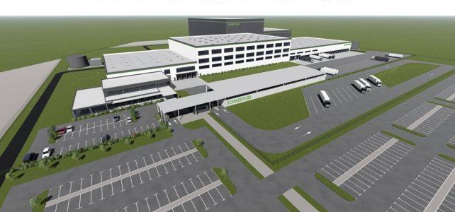 Grundsteinlegung: Schaeffler baut ein Montage- und Verpackungszentrum im Industriegebiet 'Star Park' der Stadt Halle (Saale)