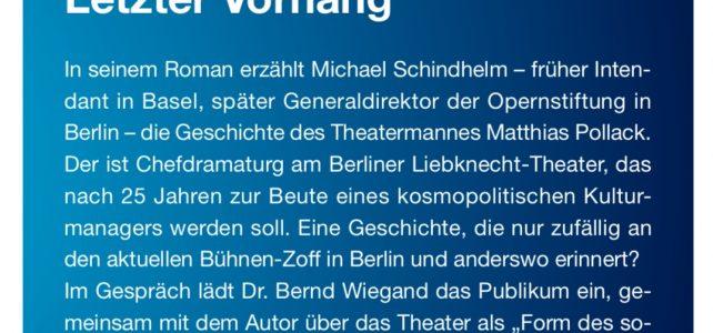 Bernd, Buch und Bürger. Zu Gast Michael Schindhelm